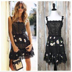 The Kooples XXS Lace Floral Daisy Love Mini Dress